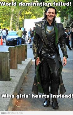 And not to be outdone by his brother Thor, may I present Ridiculously Photogenic Loki