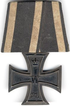 World War One Combatant Iron Cross Second Class. Uniform Insignia, Military Insignia, Medal Honor, Military Awards, German Uniforms, World War One, Coat Of Arms, Wwii, Flags