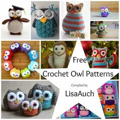 Free Crochet Owl Patterns, compiled by Lisa Auch