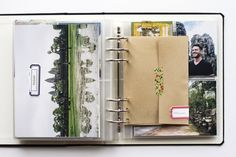 Creating a travel scrapbook + video walkthrough of the album. Travel Album, Travel Maps, Travel Journals, Travel Luggage, Scrapbook Journal, Travel Scrapbook, Project Life Album, Good Day Song, Bath And Beyond Coupon