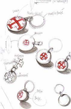 creazione di portachiavi, si parte dal disegno