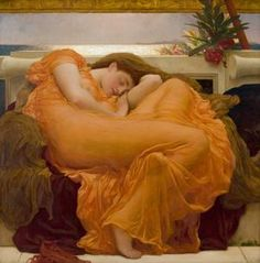 Flaming June by Frederic Leighton (oil on canvas - circa 1895)
