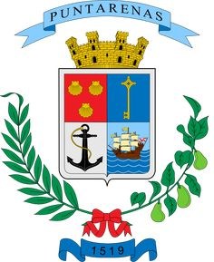 Official seal of Puntarenas Puntarenas, Costa Rica, Coat Of Arms, Flag, Country, Coats, Culture, World, Diwali