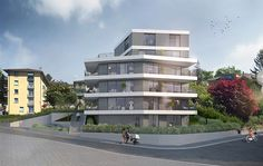 Ferrari Architectes La Vignettaz Pully Ferrari, Multi Story Building, Mansions, House Styles, Home Decor, Urban Planning, Decoration Home, Manor Houses, Room Decor