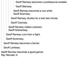 Geoff Ramsey last name Kany west meme