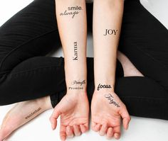 Life's Diamonds - temporary tattoo. Good ideas though