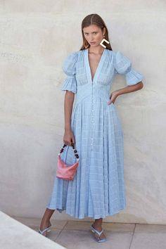 BerryGo Puff short sleeve women vintage dress summer V-neck buttons long party dress Striped high waist holiday boho dress blue Elegant Dresses, Vintage Dresses, Casual Dresses, Summer Dresses, Midi Dresses, Summer Outfit, Dress Brands, Boho Dress, Striped Dress