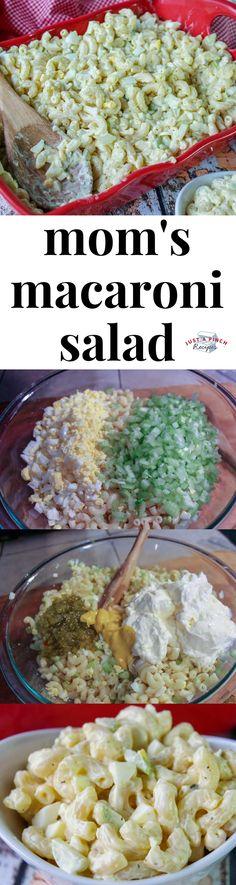 Love this classic macaroni salad recipe! Can\'t beat this summer side dish! #macaronisalad #summerrecipe #summerBBQ #BBQ #sidedish