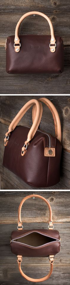 The Love 41 Mini Duffel Purse is a smaller sized bag which can be comfortable worn either on the arm or over the shoulder, or attach the shoulder strap for a Crossbody look.