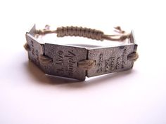 5 KEYS TO HAPPINES Unisex Men's Women's Pewter Bracelet by GUGMA, $65.00