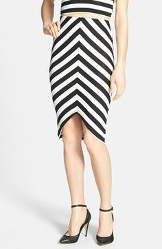 { striped pencil skirt }