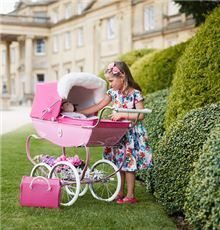 Our much loved Silver Cross heritage designs just for dolls. A beautiful pram for your child's much loved toy doll. Buy direct from Silver Cross.
