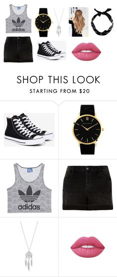 """""""quick look"""" by norishaa on Polyvore featuring Converse, Larsson & Jennings, adidas Originals, River Island, Lucky Brand, Lime Crime and New Look"""