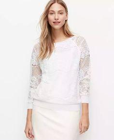 Ann Taylor lace sweatshirt