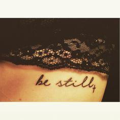 be still tattoo