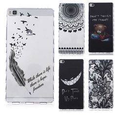 Translucent Delicate Design Back Case for Huawei P8 Lite Cover P8 TPU Silicone Cover for Huawei P8 Case Phone Coque Hoesjes