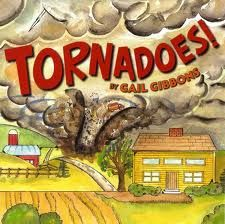Another prolific nonfiction writer, Gail Gibbons, brings us Tornadoes. What we like about this book is that it explains how most tornadoes are not violent and last less than ten minutes yet it also tells what to do if one is approaching. Great illustrations too.