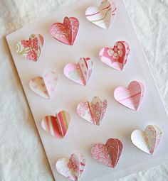 so pretty - for the heart art, punch the same heart and put it underneath...