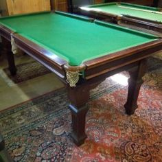 Riley 6ft Mahogany Antique Snooker Diner c1920.Snooker Dining. | Browns Antiques Billiards and Interiors.