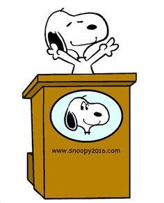 Snoopy Running for Beagle President (smaller)