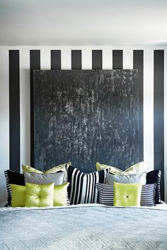 black white bedroom, would do a different color then the yellow