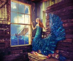 "Saatchi Art Artist: Miss Aniela; C-type 2013 Photography ""The Fisherman's Daughter, 1/3, large edition"""