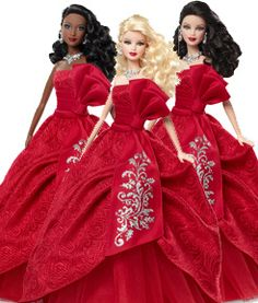 2012 Holiday Barbies