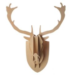 Deer Head Plywood Medium - moose mantle wall decor fireplace animal antler stag in Home & Garden, Home Décor, Wall Sculptures