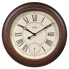 AcuRite Walnut Wood Clock hello 49 bucks walmart!!