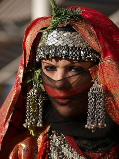 Yemenia bride from Sana'a,Yemen ~ by Khalid Alkainaey