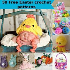 30 free Easter crochet patterns.