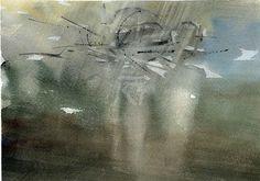 GRISAZUR: Acuarela sobre papel, 17x23 cm.May. 16, 2016