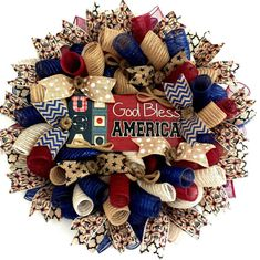 Items similar to Happy of July Patriotic Star Red, White and Blue Indoor Outdoor Gift Deco Mesh Wreath! on Etsy Fourth Of July Decor, 4th Of July Decorations, 4th Of July Wreath, July 4th, Christmas Mesh Wreaths, Deco Mesh Wreaths, Door Wreaths, Burlap Wreaths, Rag Wreaths