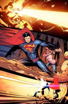 Superman by Jorge Jimenez Heros Comics, Dc Comics Characters, Dc Comics Art, Dc Heroes, New 52, Hq Marvel, Marvel Comics, Mundo Superman, Superman Man Of Steel