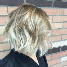 messy+blonde+balayage+bob