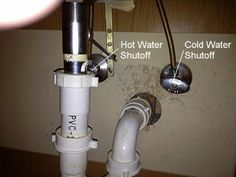 How to Remove a Bathroom Vanity: Shutoff Water Supply at Sink