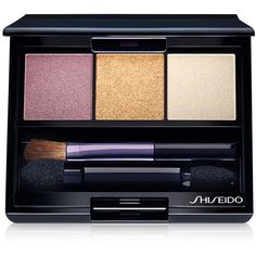 Shiseido Luminizing Satin Eye Color Trio (€28) ❤ liked on Polyvore featuring beauty products, makeup, eye makeup, eyeshadow, rd beach grass, palette eyeshadow, shiseido, shiseido eye shadow, shiseido eyeshadow and shiseido eye makeup