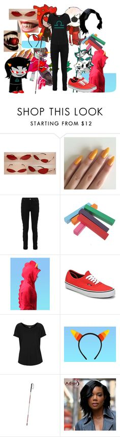 """""""Homestuck- Terezi"""" by mother-of-anime-pandas ❤ liked on Polyvore featuring Vans, Topshop, homestuck and terezi"""