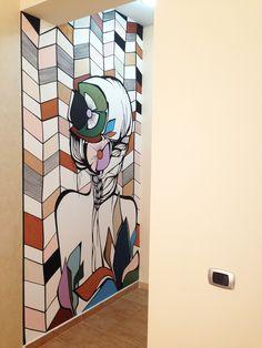 """Arya"" @ DMG ART Concept Showroom   Wall mural decorative paint ""Arya"" @ DMG ART Concept Showroom   Pictura murala realizata cu vopsea decorativa Wall Murals, Showroom, Curtains, Shower, Prints, Inspiration, Decor, Wallpaper Murals, Rain Shower Heads"