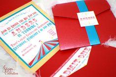 Circus or Carnival Theme Birthday Invitations