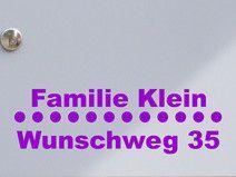 Adresse 02 - Briefkastentattoo - Wunschtext