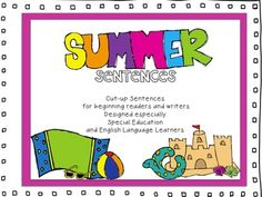 Memorial Day Sale! 20% off!!!   Summer Sentences Fun for special education and intervention