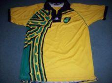 2e6cb9b6f 1998 2000 Jamaica Adults XL Football Shirt Reggae Boyz Rasta Top Old Football  Shirts