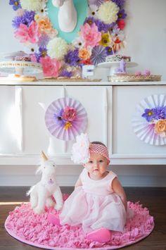 Whimsical Unicorn themed birthday party