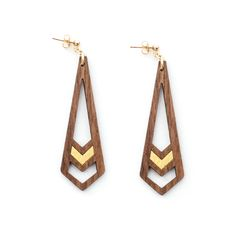 All of the items in the Henderson Dry Goods' jewelry line are made from high quality exotic hardwoods. Fittings are available in gold, silver and copper. These options vary by piece.