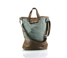 Wool + Canvas Leather Carryall