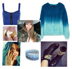 """MADISON DRAFTED TO SMACKDOWN💙💙MATCH💙"" by catilynhartzog ❤ liked on Polyvore featuring WearAll, Unreal Fur and Sirena"