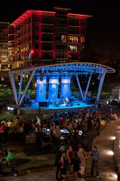 TD Stage - a great way to get Outside in Greenville and hear some beautiful music!