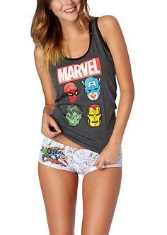 image of Marvel Superhero Tank & Undie Sleep Set