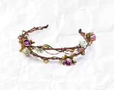 lavender flower-girl headpiece
